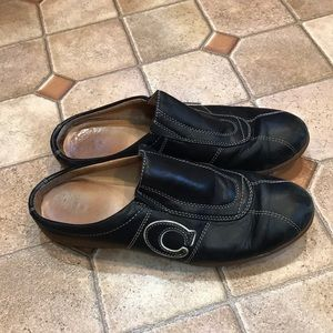 """Coach """"Susie"""" slip on shoes size 8.5 black"""